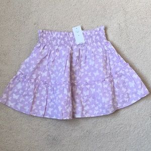 Girls Gap Lilac Butterfly Tiered Skirt NWT XS